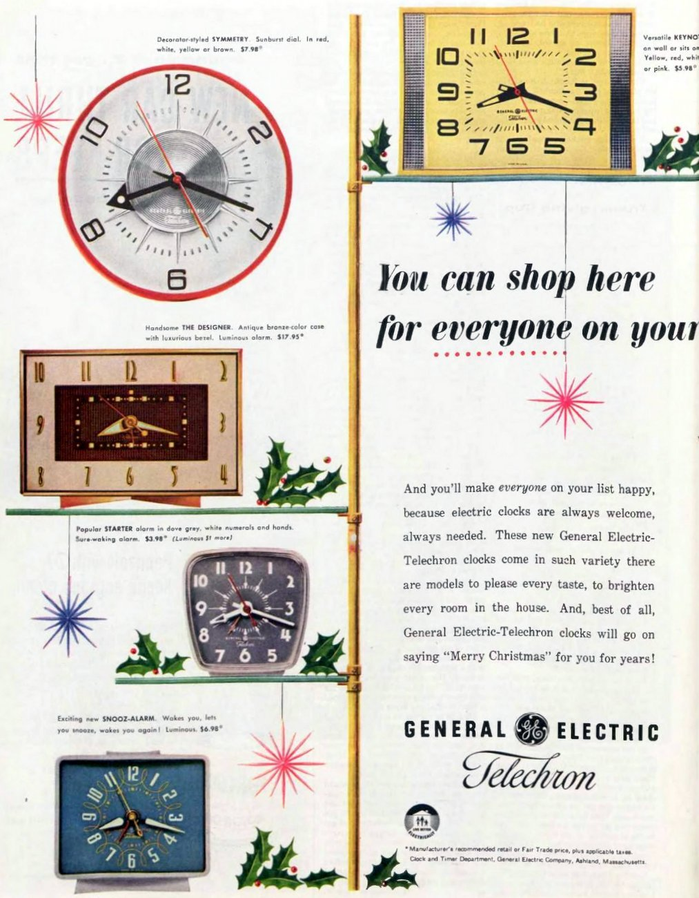 Vintage GE wall clocks from 1956 (2)