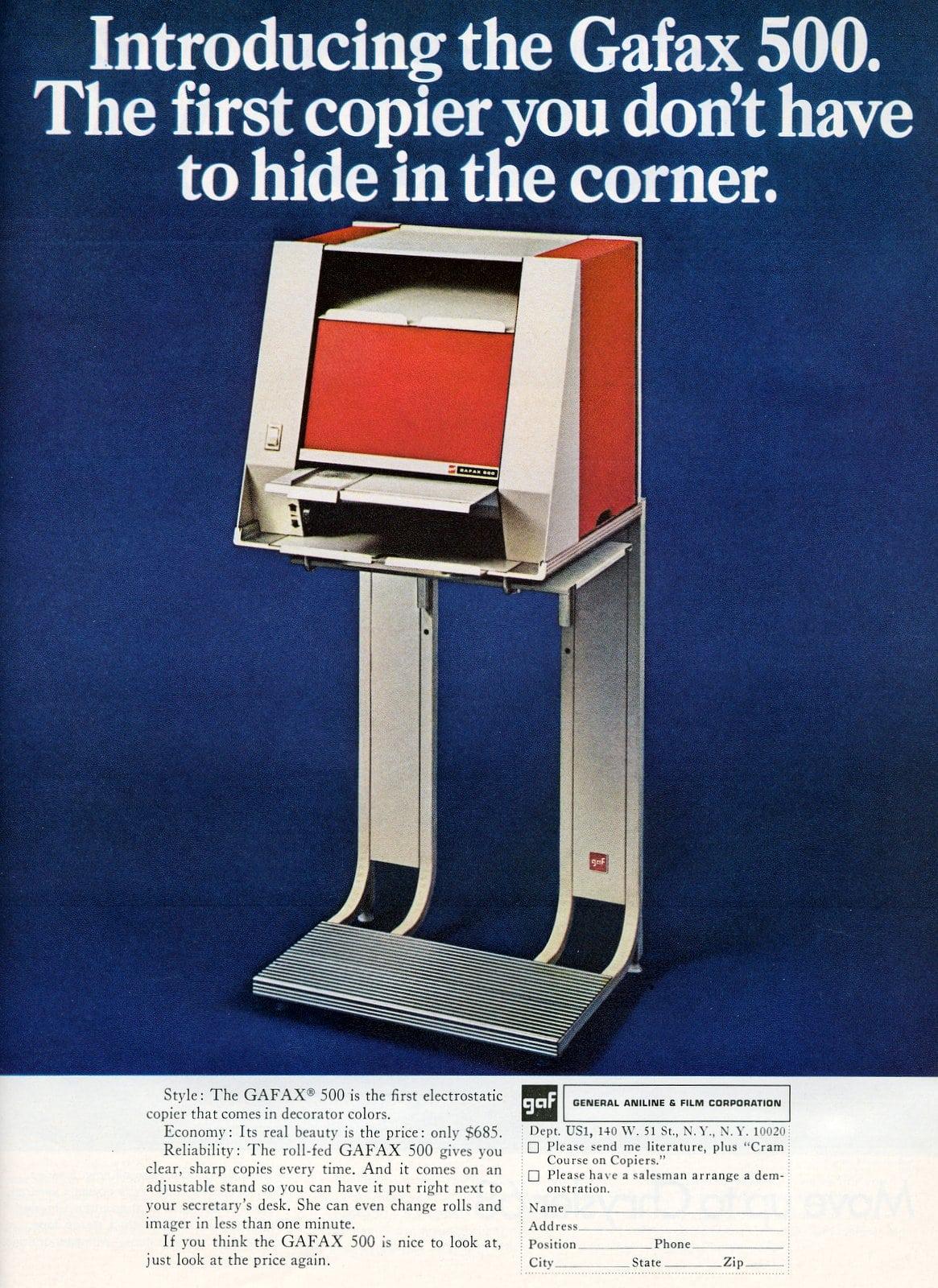 Vintage Gafax 500 office copier (1967)