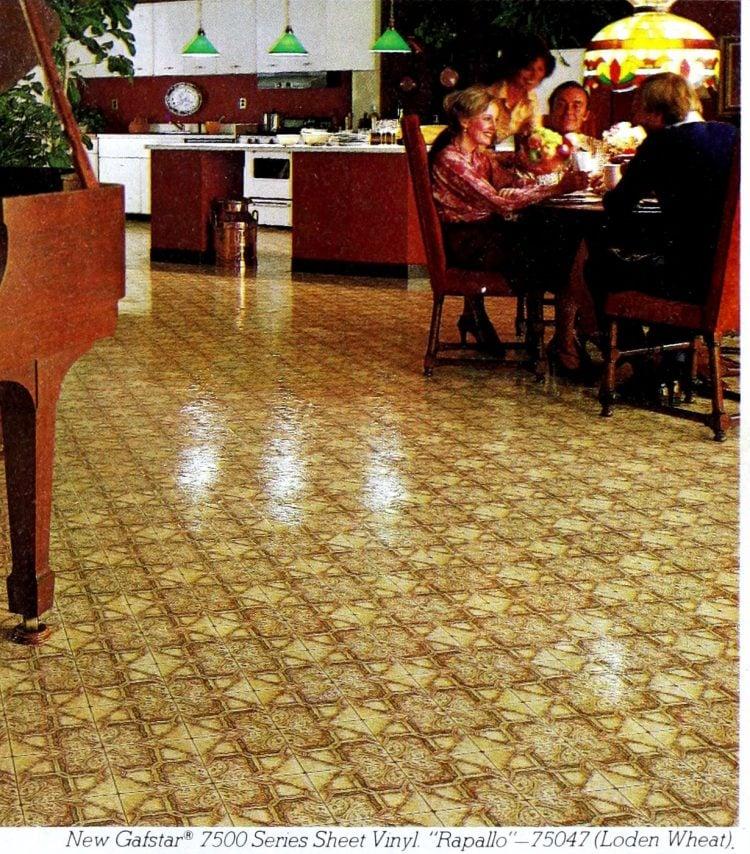 Vintage Gafstar Rapallo vinyl flooring from 70s and 80s - From ClickAmericana com