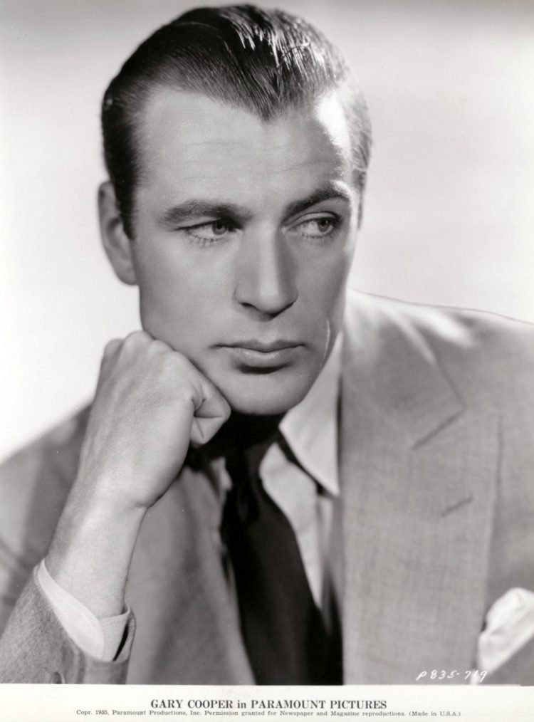 Vintage Gary Cooper promotional photo from Paramount Pictures