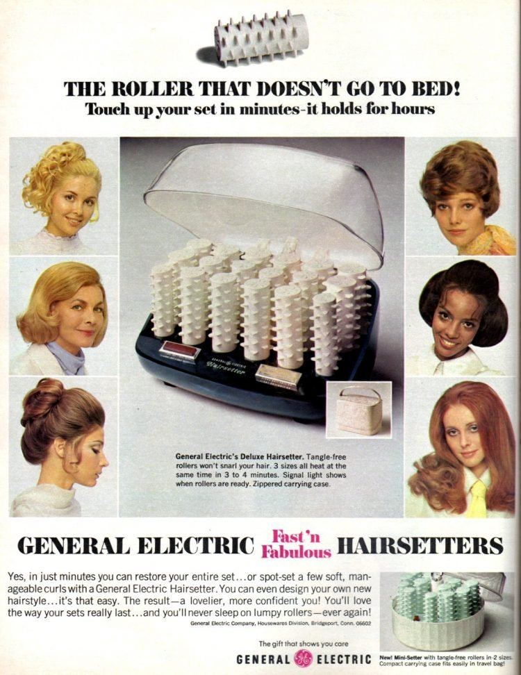 Vintage General Electric Fast N Fabulous hairsetters - Hot curlers from 1969