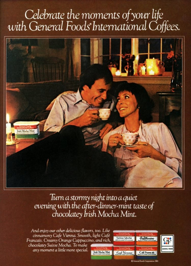 Vintage General Foods International Coffees Irish Mocha Mint (1981)