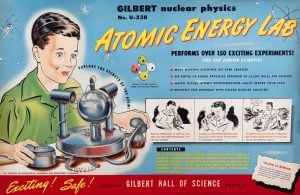 Vintage Gilbert nuclear physics atomic energy lab - 1950s box front
