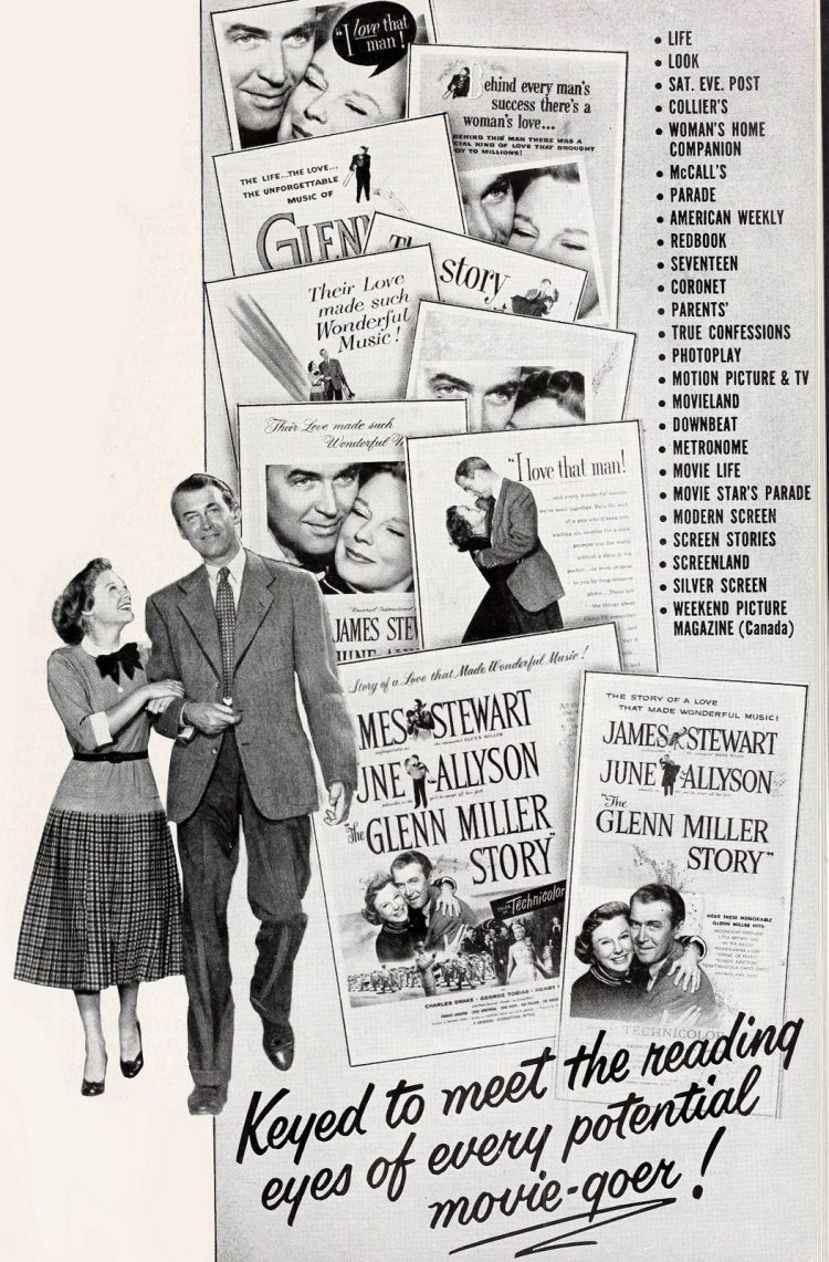 Vintage Glenn Miller Story movie with Jimmy Stewart - 1950s (2)