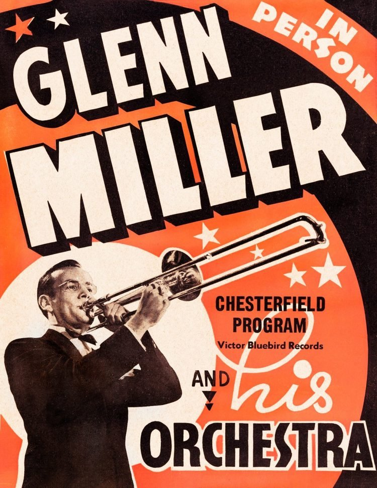 Vintage Glenn Miller and His Orchestra poster
