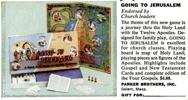 Vintage Going to Jerusalem board game from 1956