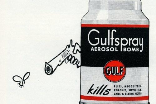 Vintage Gulfspray insect killer (1950s)