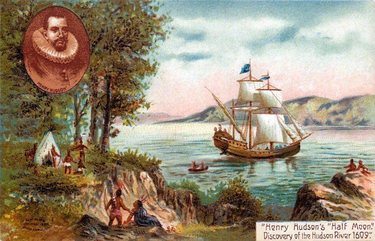 Vintage Half Moon ship - Henry Hudson