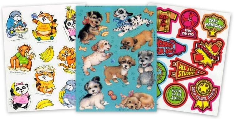 Vintage Hallmark sticker sheets
