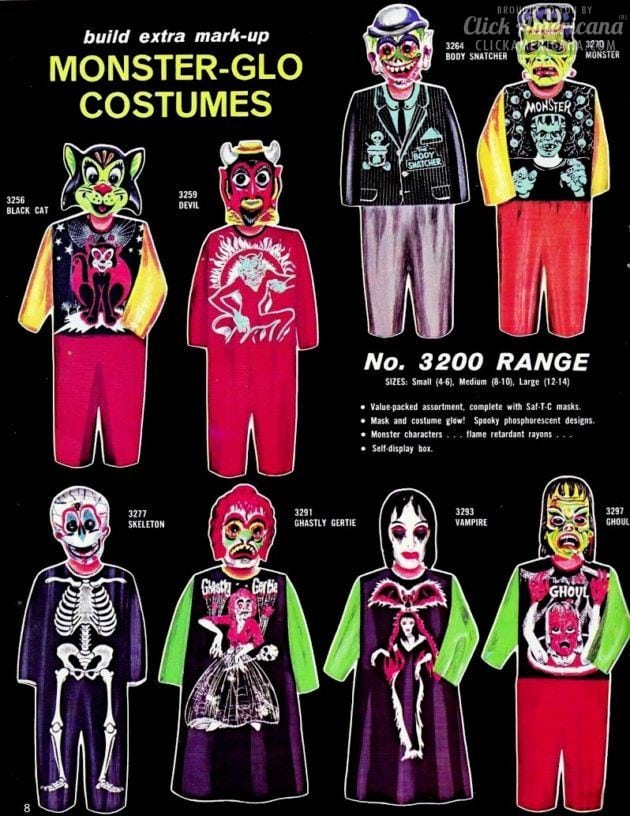 Monster Mash: Halloween costumes from the 1960s