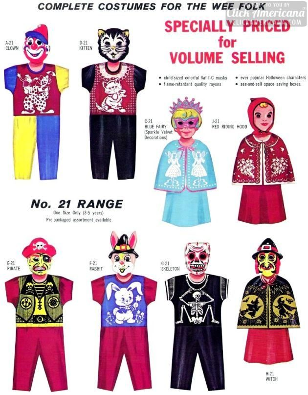 Vintage Halloween Costumes In A Box.Monster Mash Halloween Costumes From The 1960s Click Americana