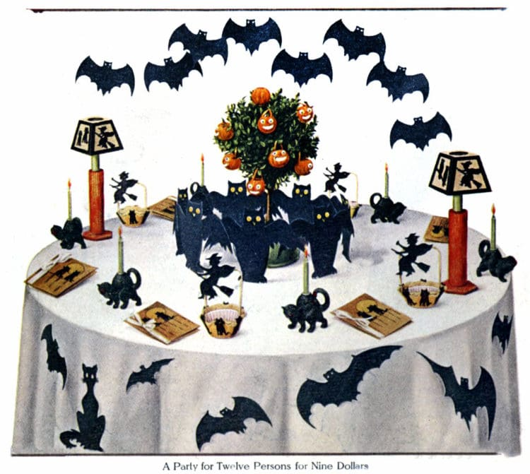 Vintage Halloween party decorations-Silhouette table