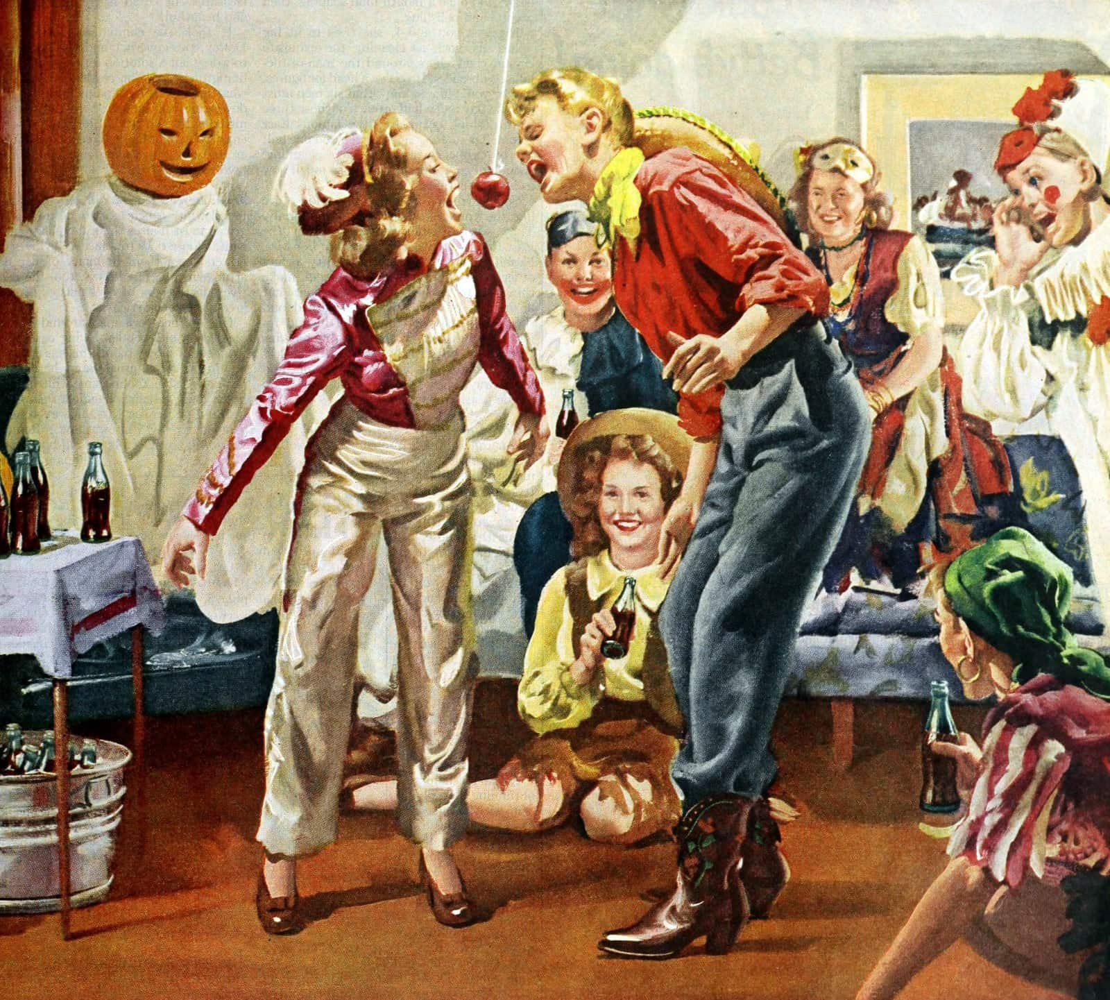 Vintage Halloween party in 1944