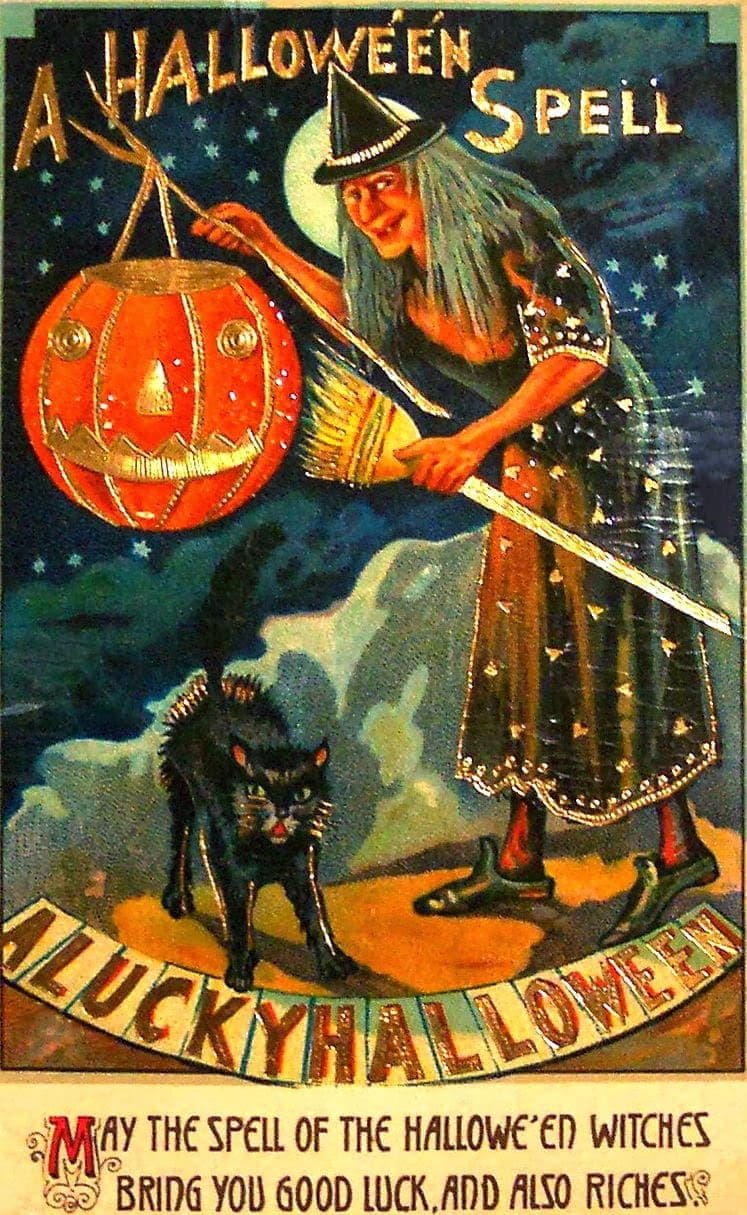 Vintage Halloween postcards c1905