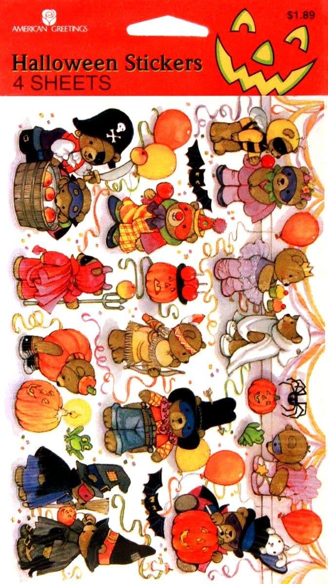 Vintage Halloweens sheet - American Greetings characters