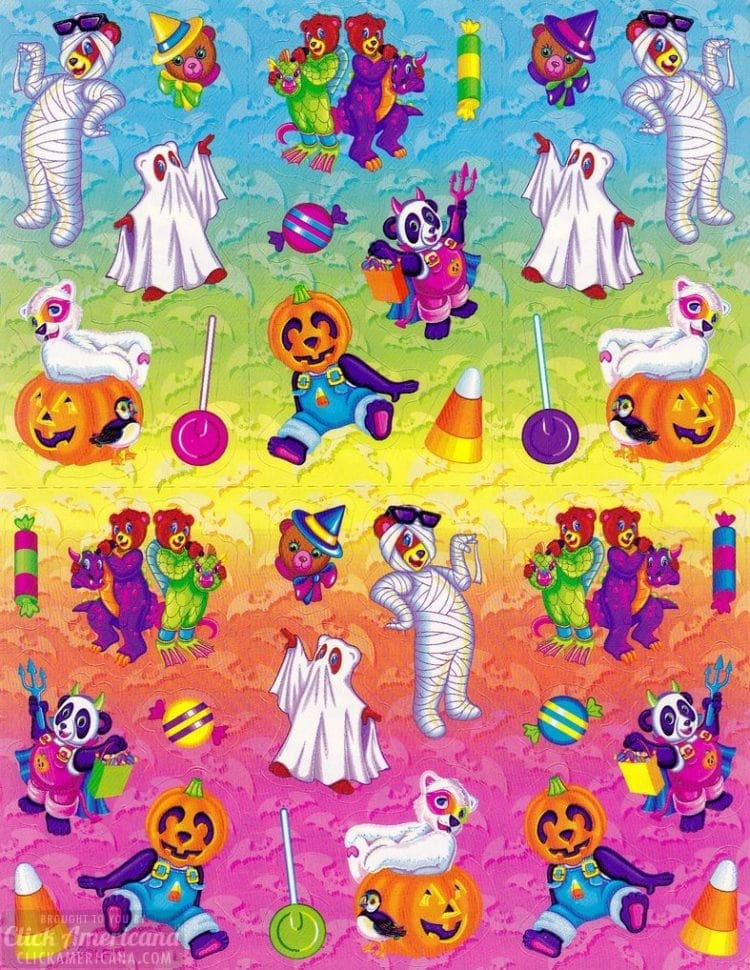 Vintage Halloween stickers - Lisa Frank