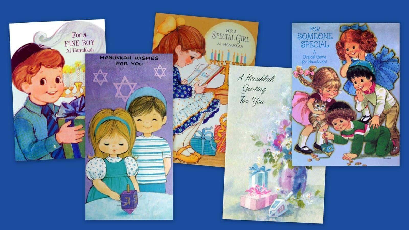 Vintage Hanukkah cards