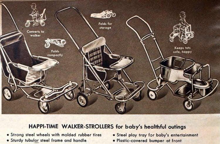 Vintage Happi-Time Walker-Strollers from 1955