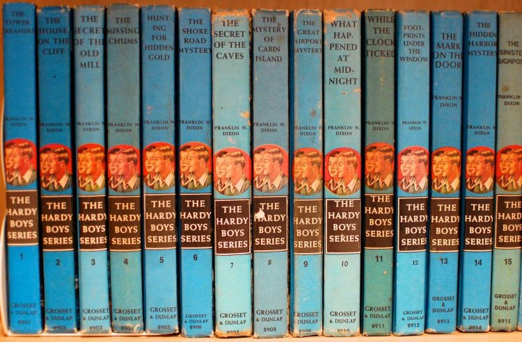 Vintage Hardy Boys books