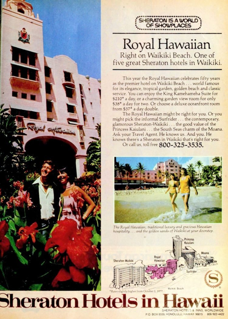 Vintage Hawaii hotels in 1970s - 1977 (1)