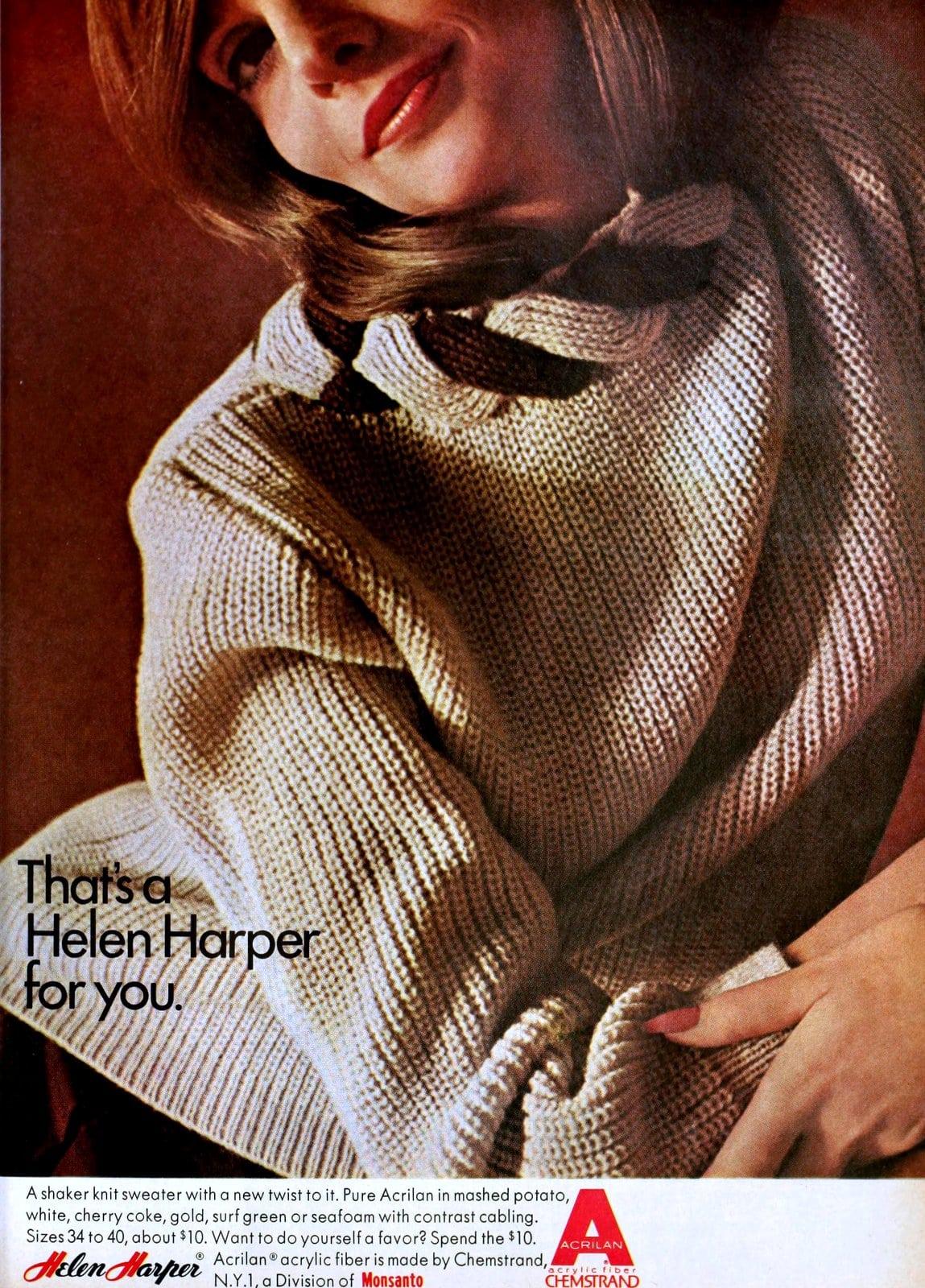 Vintage Helen Harper sweater fashion (1964)