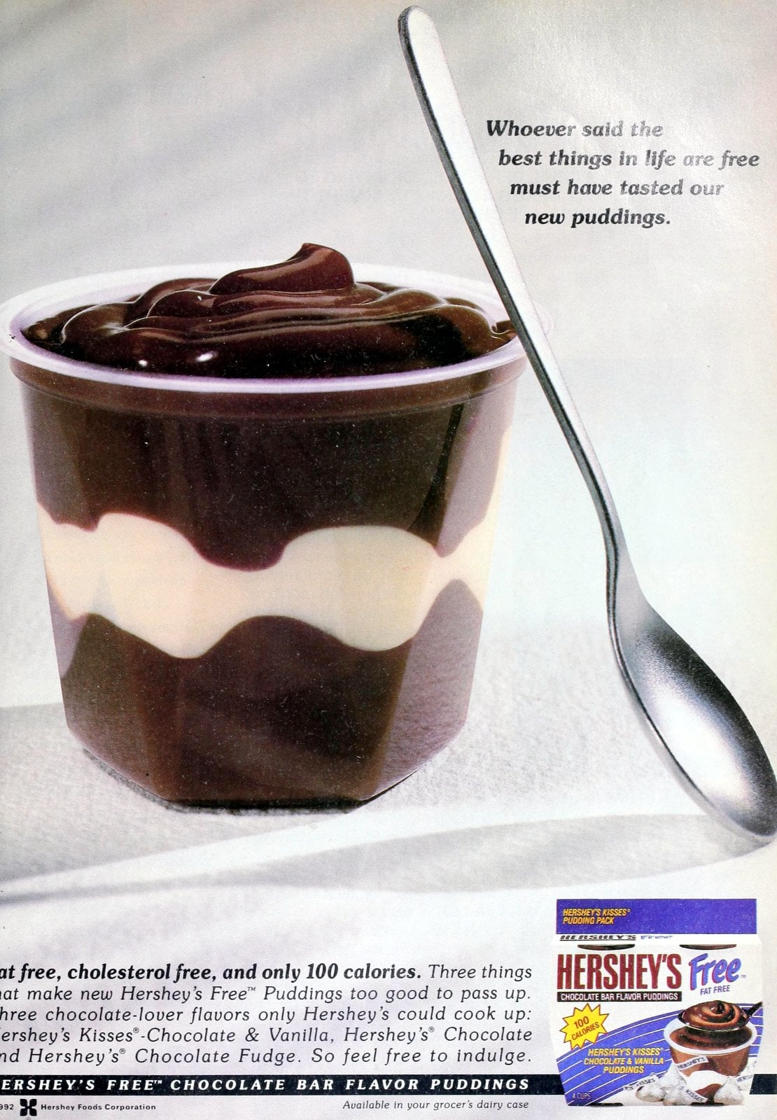 Vintage Hershey's Free fat-free pudding cups (1992)
