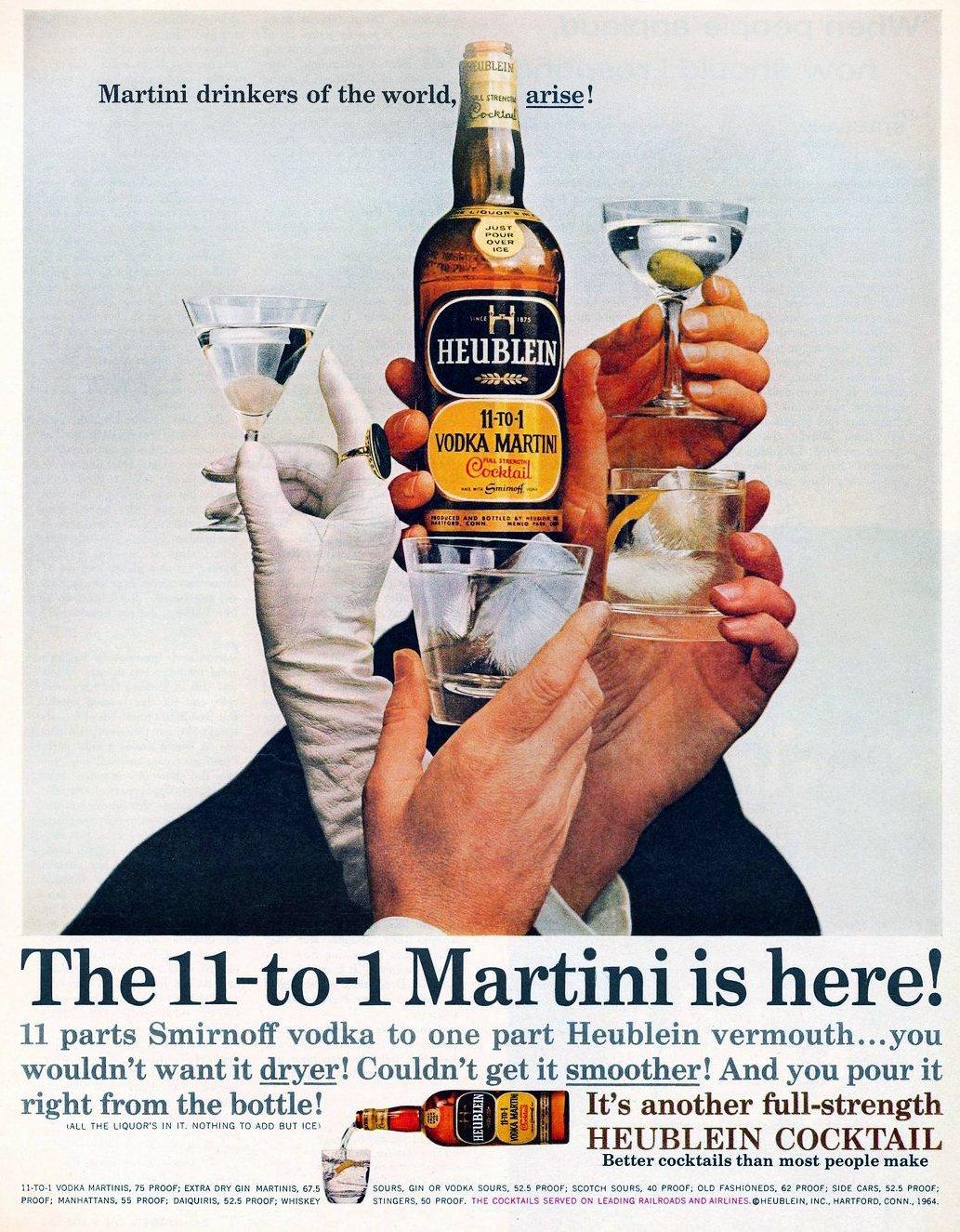 Vintage Heublein cocktails 1964