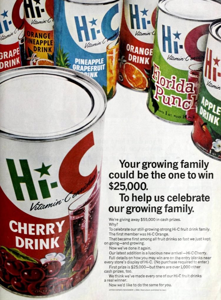 Vintage Hi-C drink from 1966