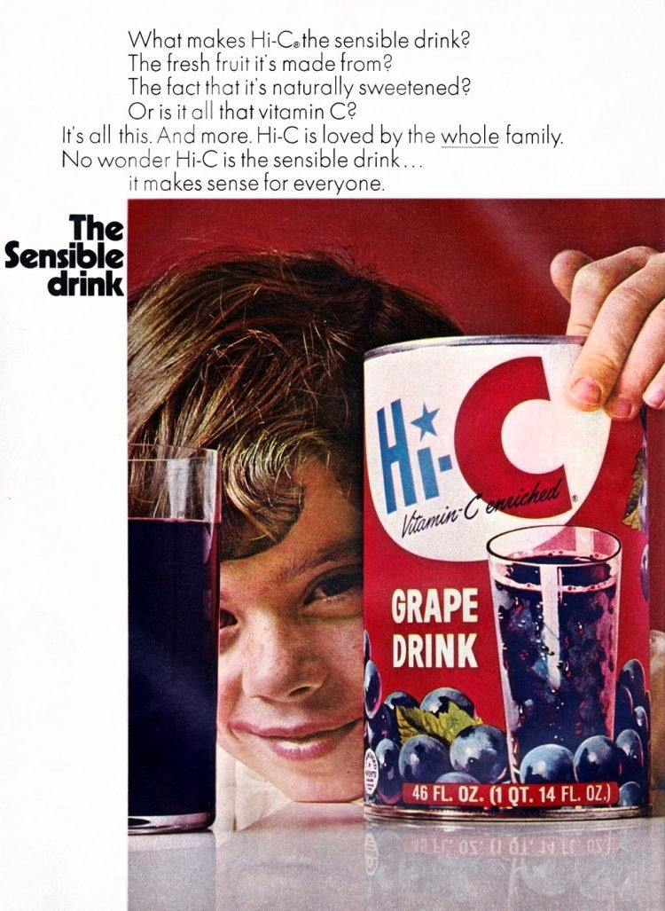 Vintage Hi-C grape drink