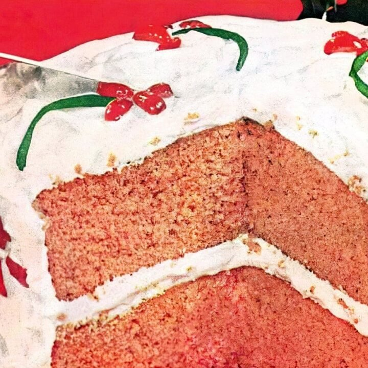 Vintage Holiday clove cake recipe from 1957 (1)