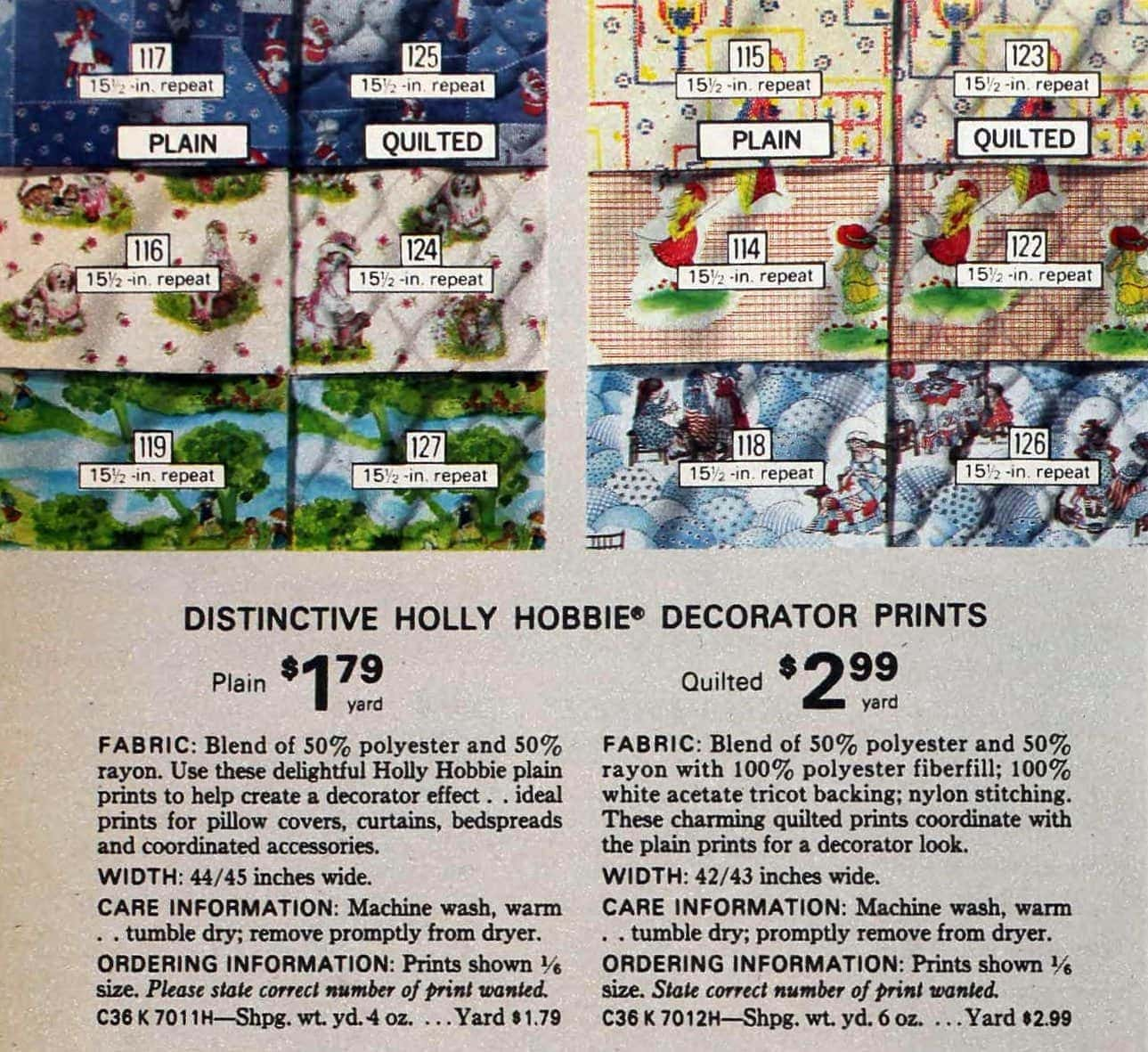 Vintage Holly Hobbie fabric - material for sewing (1)