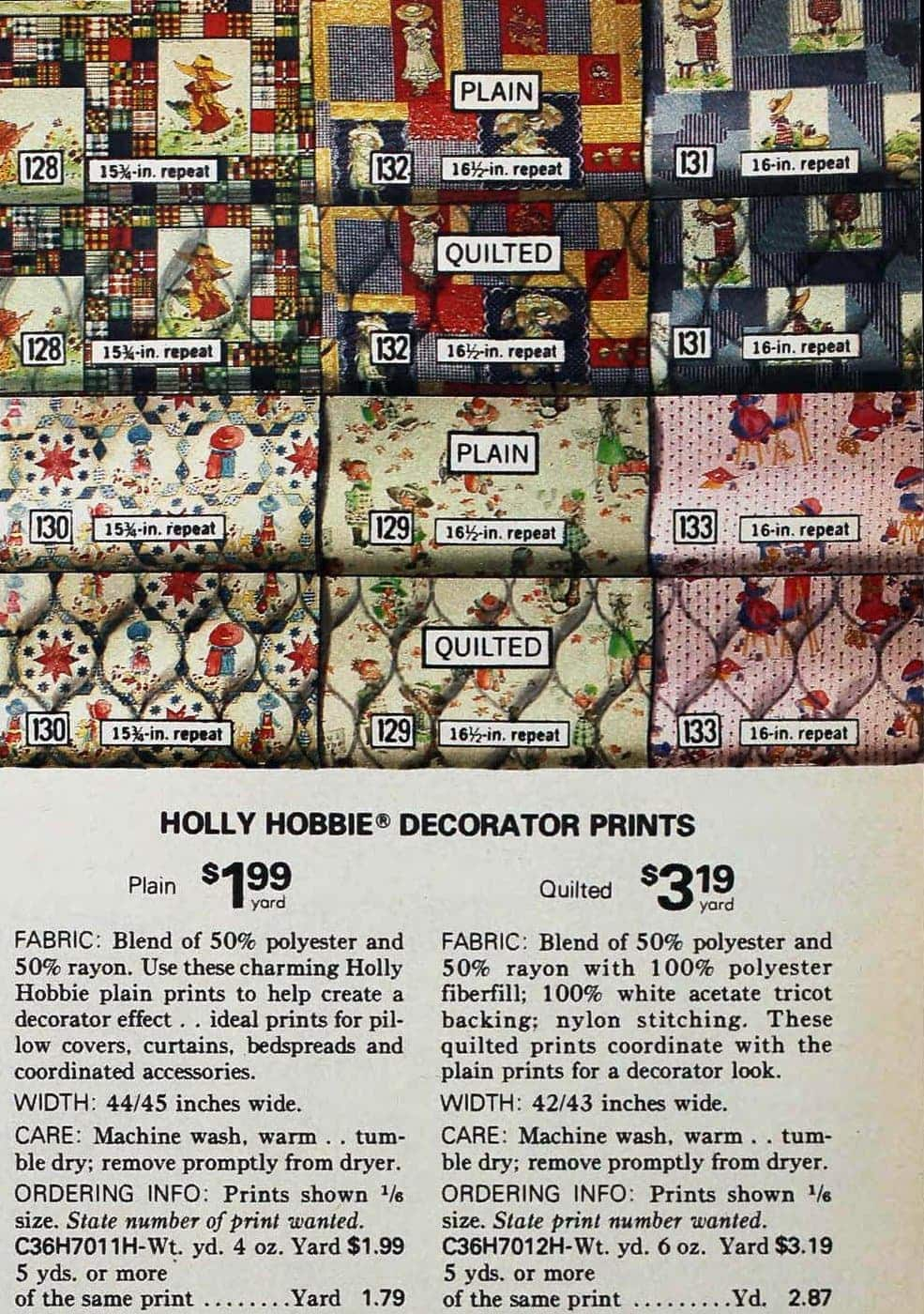 Vintage Holly Hobbie fabric - material for sewing (2)