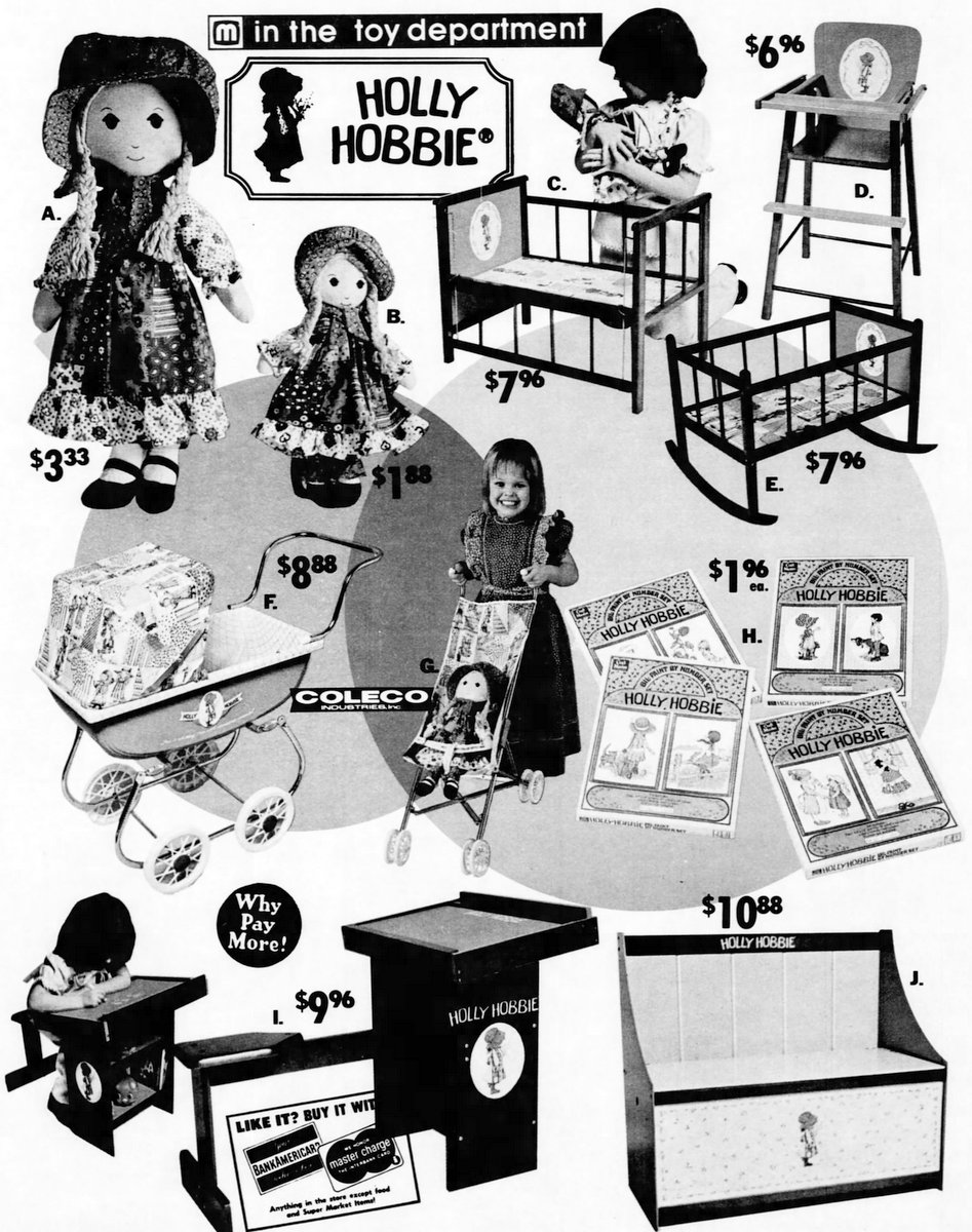 Meijer collection of Holly Hobbie merchandise (1975)