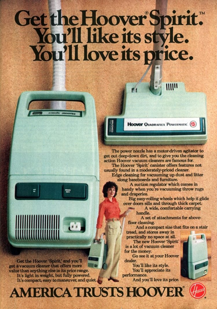 Vintage Hoover vaccums from 1982