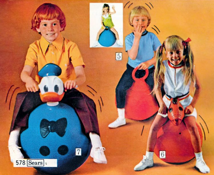 Vintage Hoppity Hop and Hoppity Horse bounce toys