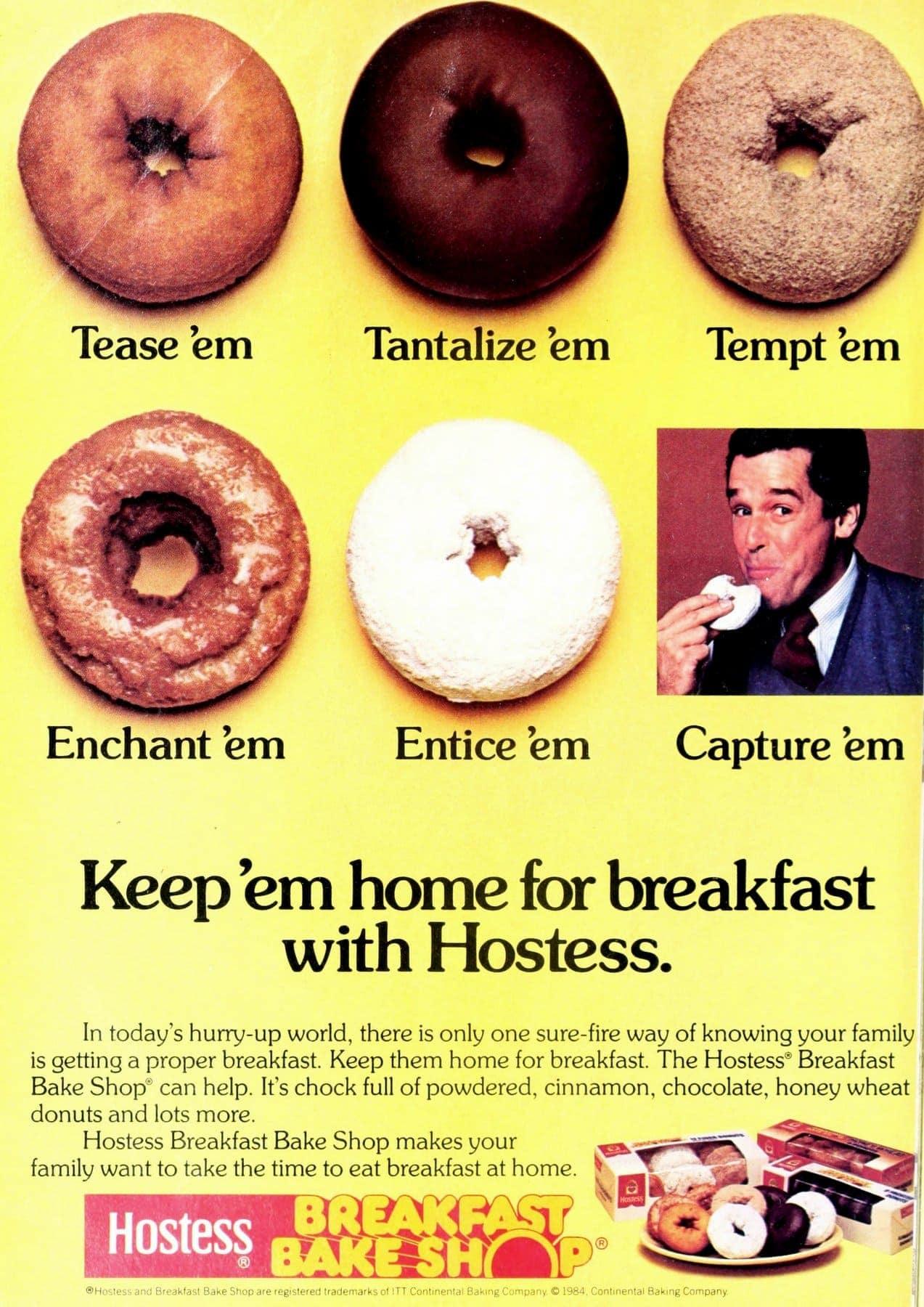 Vintage Hostess Breakfast Bake Shop donuts from 1984 (1)
