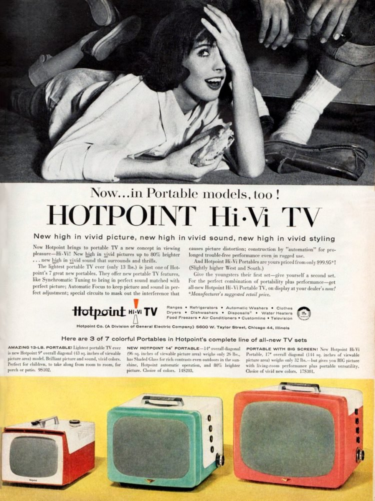 Vintage Hotpoint Hi-Vi TV from 1956