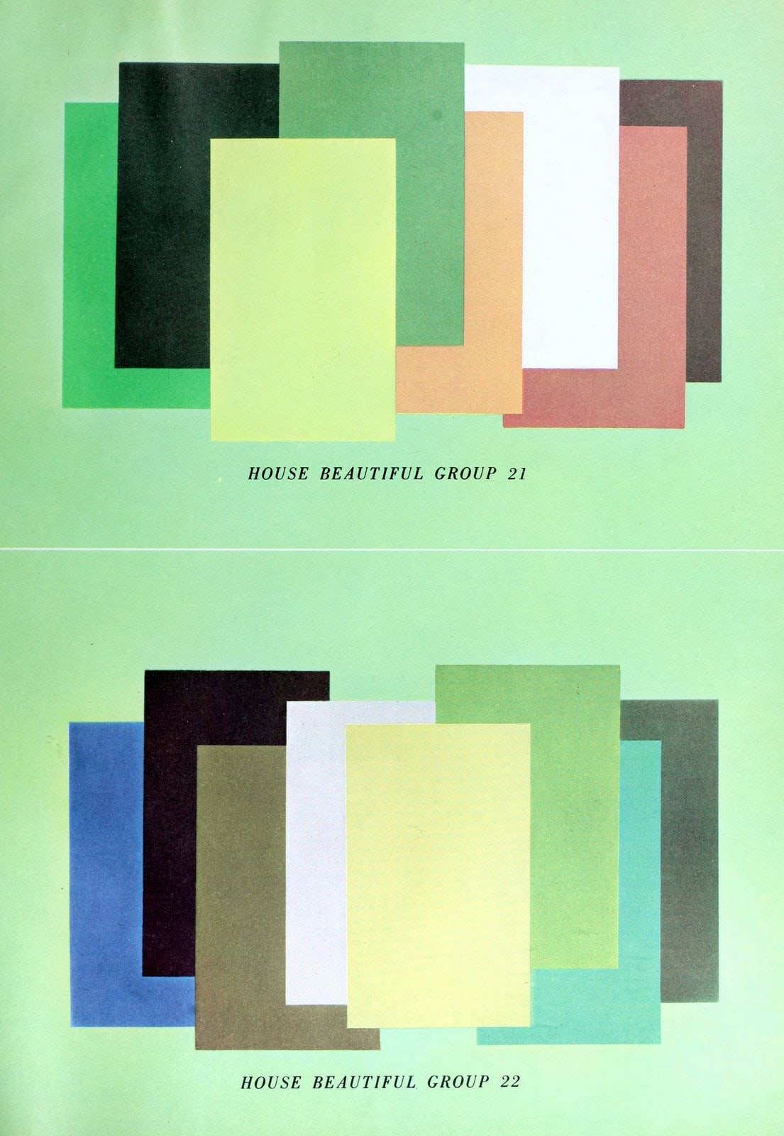 Vintage House Beautiful color schemes from 1959 (6)