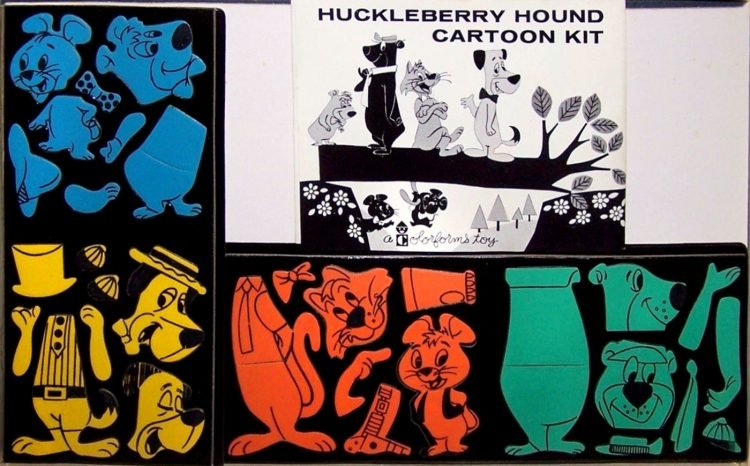 Vintage Huckleberry Hound Colorforms kit