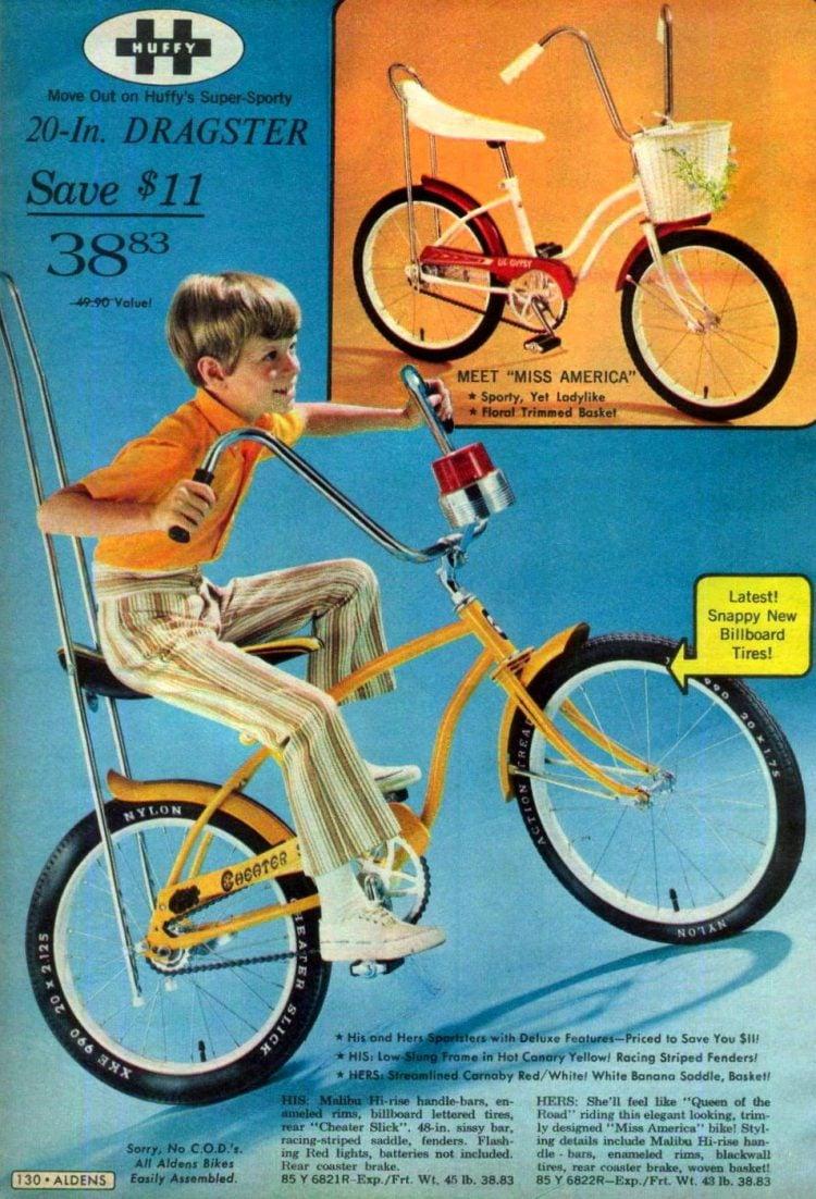Vintage Huffy 20 inch Dragster bike 1970s