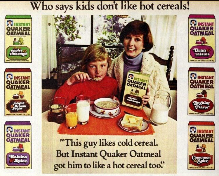 Vintage Instant Quaker Oatmeal 1979