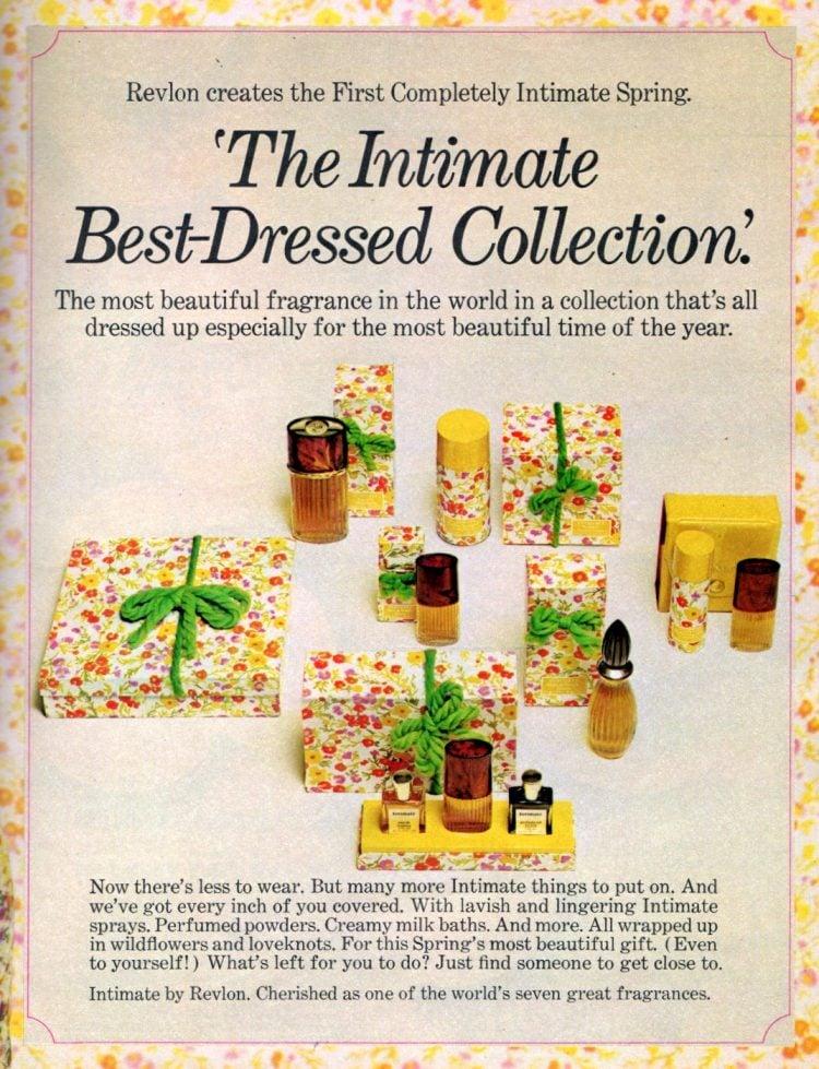 Vintage Intimate by Revlon gift set 1970