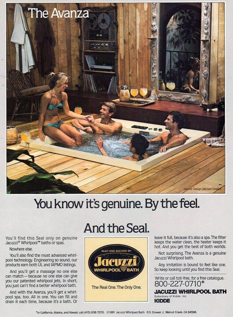 Vintage Jacuzzi Avanza hot tub 1982