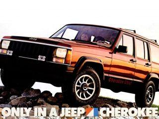 Vintage Jeep Cherokee - 1985 red