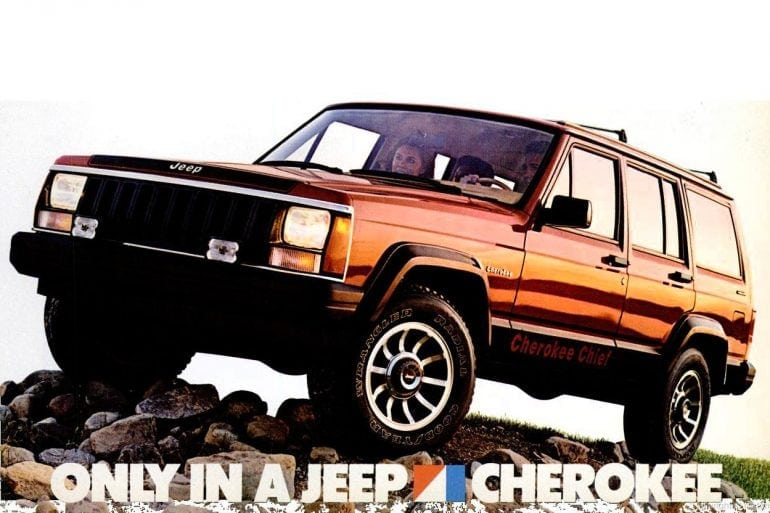 Vintage Jeep Cherokee - 1985 red