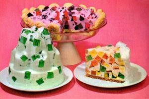 Vintage Jell-O Crown JewelWindow Glass dessert recipes (2)
