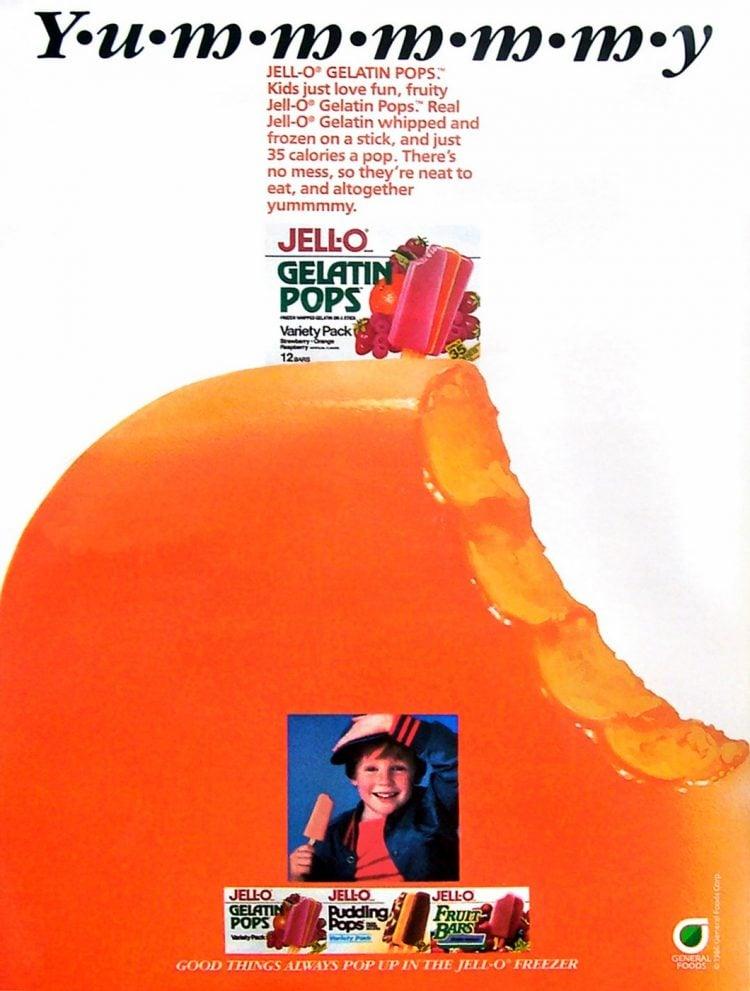 Vintage Jello gelatin pops - 1987