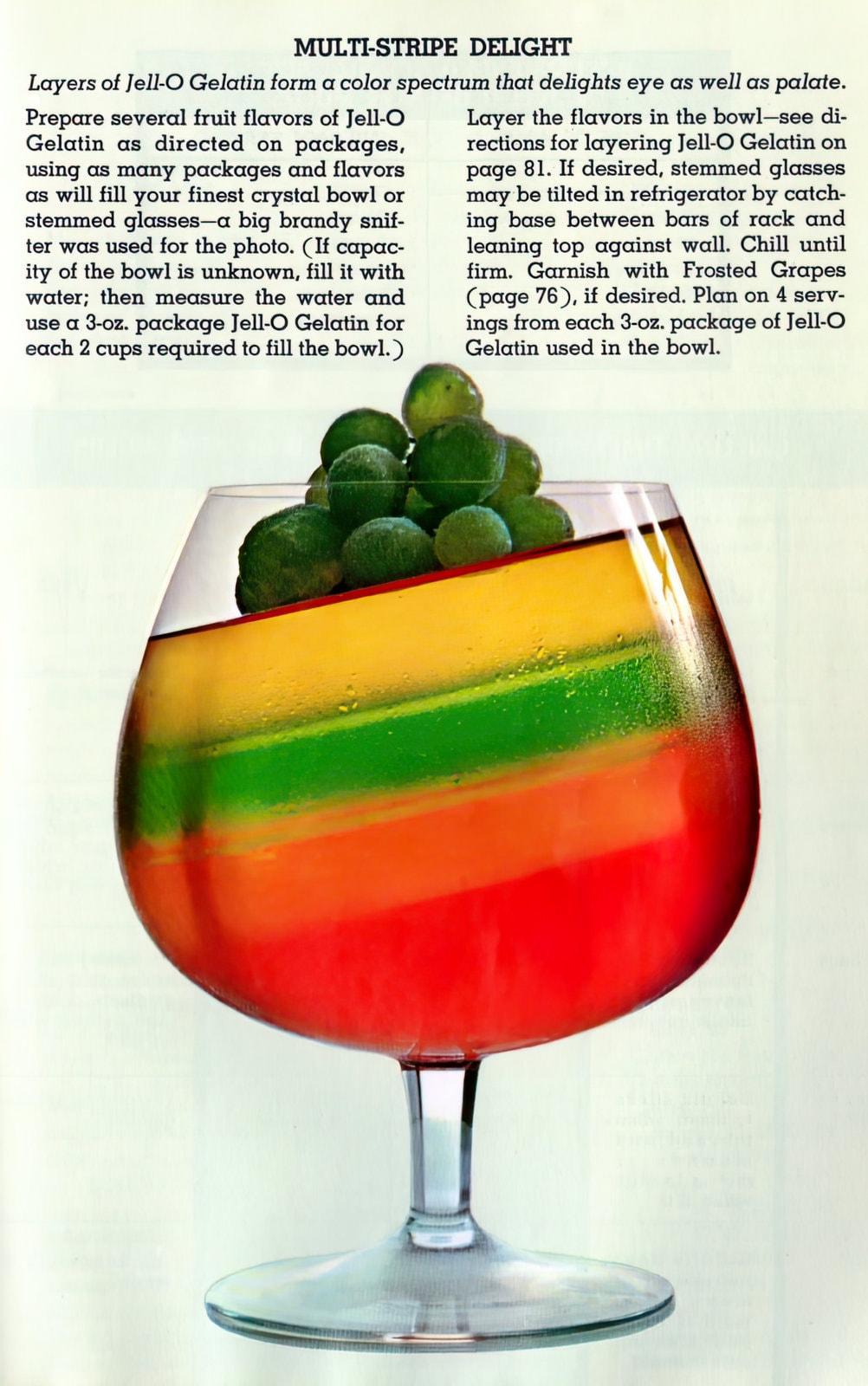 Vintage Jello multi-stripe delight recipe