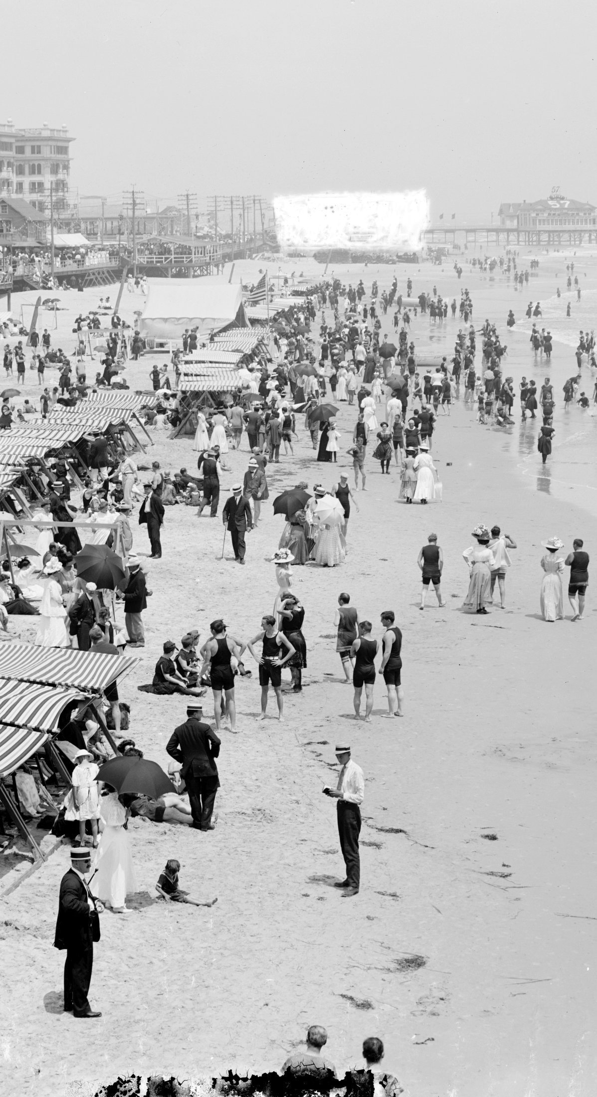 Vintage Jersey Shore beach scenes from the early 1900s (3)