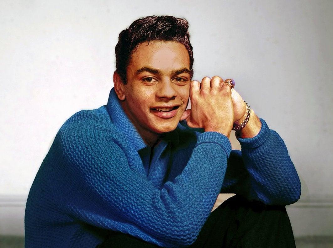 Vintage Johnny Mathis - Blue sweater